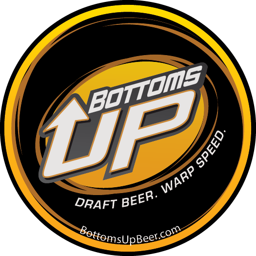 32 oz. Bottoms Up Logo